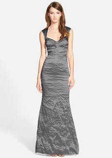 Nicole Miller 'Ali' Techno Metal Mermaid Gown
