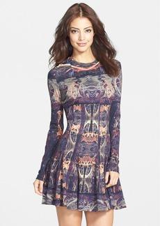 Nicole Miller 'Amber Force Field' Jersey Fit & Flare Dress
