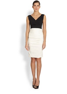 Nicole Miller Andrea Two-Tone Cocktail Dress
