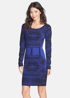 Nicole Miller Baroque Pattern Knit Body-Con Dress