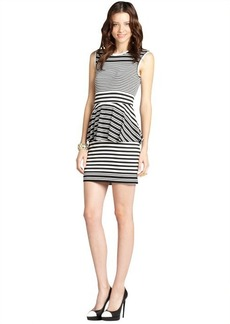 Nicole Miller black and white 'Cayley' striped jersey dress