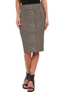 Nicole Miller Carter Herringbone Skirt