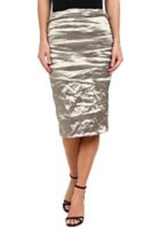 Nicole Miller Carter Techno Metal Skirt
