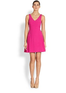 Nicole Miller Crepe Cutout-Back Dress