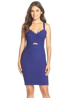 Nicole Miller Cutout Crepe Body-Con Dress