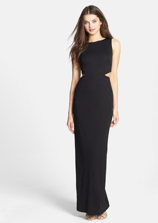 Nicole Miller Cutout Stretch Jersey Gown