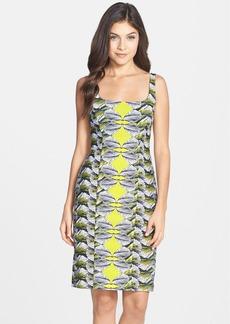 Nicole Miller 'Del Mar' Print Piqué Sheath Dress