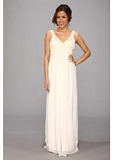 Nicole Miller Double Face Satin & Silk Georgette Bridal Gown