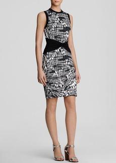Nicole Miller Dress - Sleeveless Printed Matte Jersey