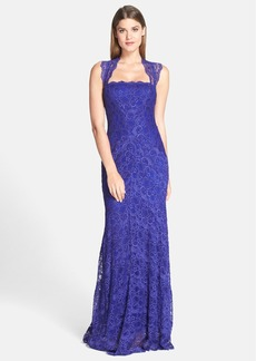 Nicole Miller 'Eva' Stretch Lace Column Gown