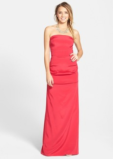 Nicole Miller 'Felicity' Techno Crepe Gown