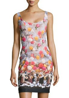 Nicole Miller Floral-Print & Historic-Scene Dress, Multicolor