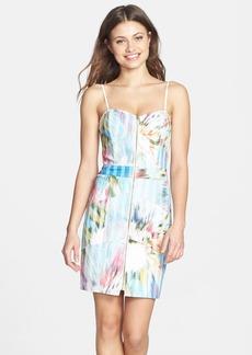 Nicole Miller Flower Print Denim Dress