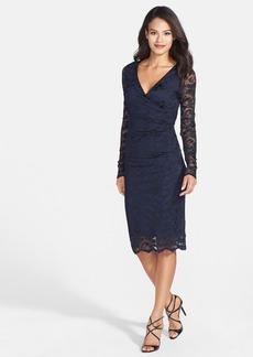 Nicole Miller 'Flower Scroll' Lace Sheath Dress