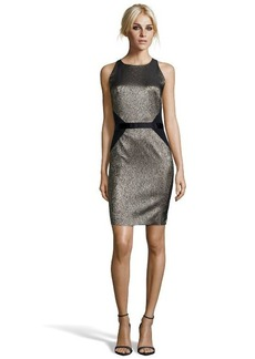 Nicole Miller gold metallic woven jacquard 'Cassie' dress
