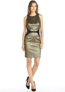 Nicole Miller gold metallic woven jacquard 'Cassie' dress