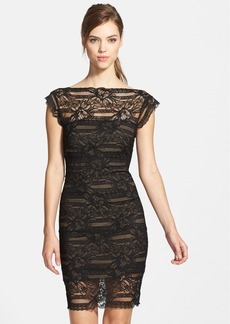 Nicole Miller Illusion Yoke Lace Sheath Dress