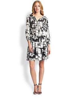 Nicole Miller Ink Blot-Print Dress