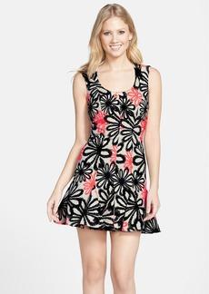 Nicole Miller Jacquard Fit & Flare Dress