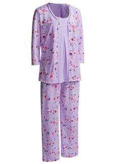 Nicole Miller Jersey Pajamas - 3-Piece, 3/4 Sleeve (For Women)