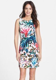 Nicole Miller Jungle Print Neoprene Sheath Dress