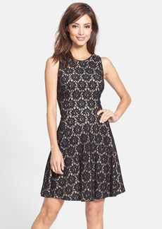 Nicole Miller Lace Fit & Flare Dress