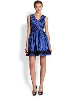 Nicole Miller Lace-Trim Party Dress