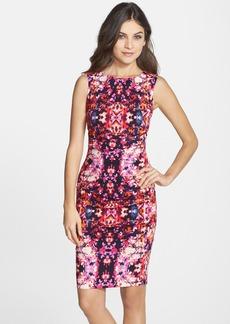Nicole Miller 'Lauren Water Lily' Cotton Blend Body-Con Dress