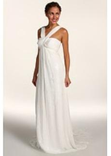 Nicole Miller Lurex Chiffon Gown