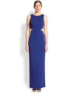Nicole Miller Matte Jersey Cutaway Gown