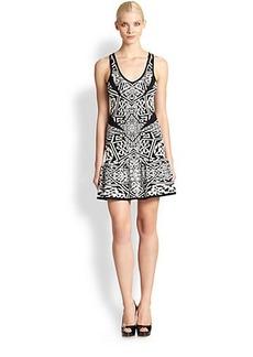 Nicole Miller Maze Double-Knit Dress