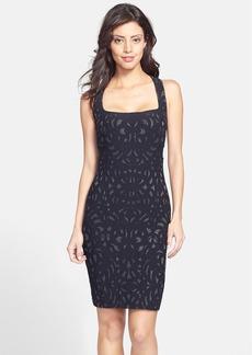 Nicole Miller Metallic Knit Body-Con Dress