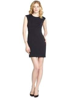 Nicole Miller navy 'Grenada' stretch twill dress