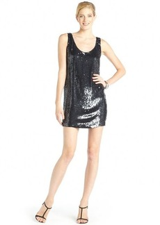 Nicole Miller navy silk sequin 'Orion' sleeveless party dress
