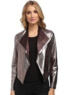 Nicole Miller Non-Stretch Leather Jacket