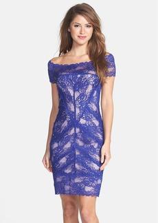 Nicole Miller Off Shoulder Stretch Lace Dress