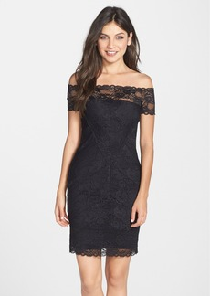 Nicole Miller Off the Shoulder Stretch Lace Dress