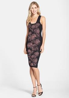 Nicole Miller Pineapple Knit Jacquard Body-Con Dress