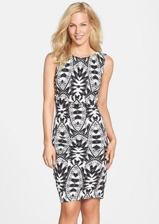 Nicole Miller Print Jersey Body-Con Dress