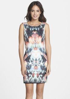 Nicole Miller Print Neoprene Body-Con Dress