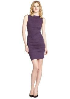 Nicole Miller purple stretch tweed sleeveless dress