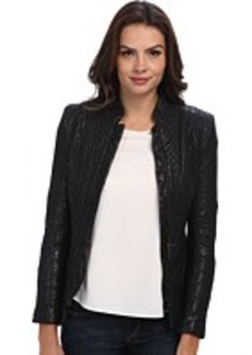 Nicole Miller Quilted Leather Jacket