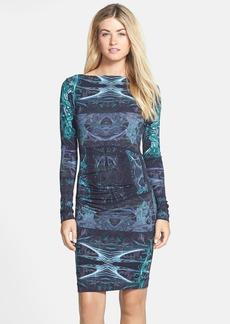 Nicole Miller 'Quinn' Print Body-Con Dress
