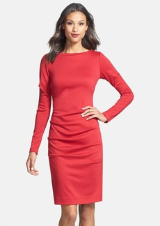 Nicole Miller Ruched Ponte Sheath Dress