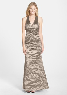 Nicole Miller 'Sasha' Metallic Techno Mermaid Gown