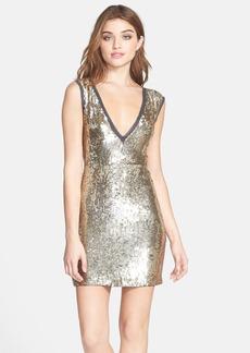 Nicole Miller Sequin Silk A-Line Dress