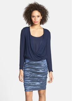 Nicole Miller Silk & Metallic Blouson Dress
