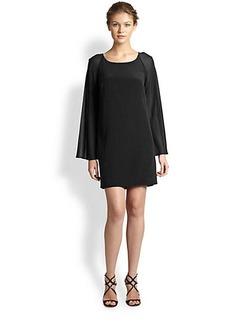 Nicole Miller Silk Bell-Sleeve Dress