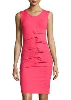 Nicole Miller Sleeveless Jersey Dress, Candy Pink