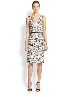 Nicole Miller Sleeveless Neoprene Dress